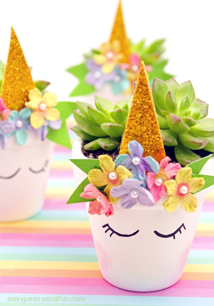 Magical Unicorn Flower Pop Planters - Perfect for Succulents #unicorn #mothersday