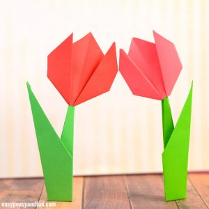How to Make Origami Flowers – Origami Tulip Tutorial with Diagram