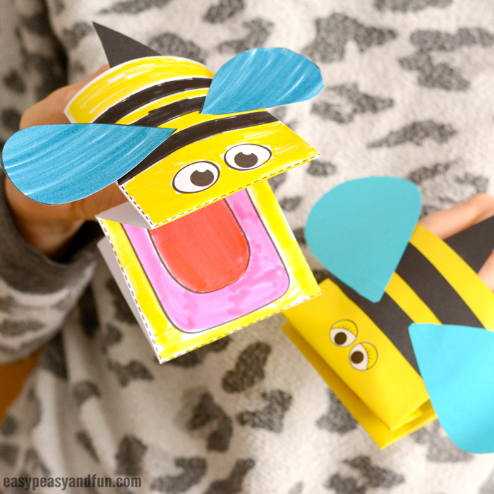 Printable Bee Puppet for Kids