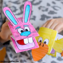 Printable Bunny and Chick Puppets
