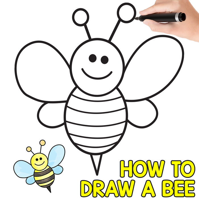 How To Draw A Bee Cute Step By Step Tutorial Easy Peasy And Fun