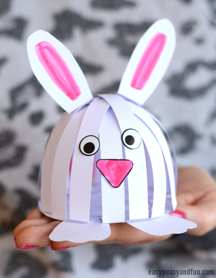 Simple Easter Bunny Construction Paper Craft for Kids