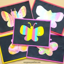 Butterfly Silhouette Art – Simple Art Idea for Kindergarten and Older Kids