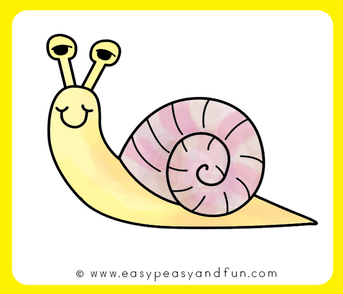 Color in your snail drawing