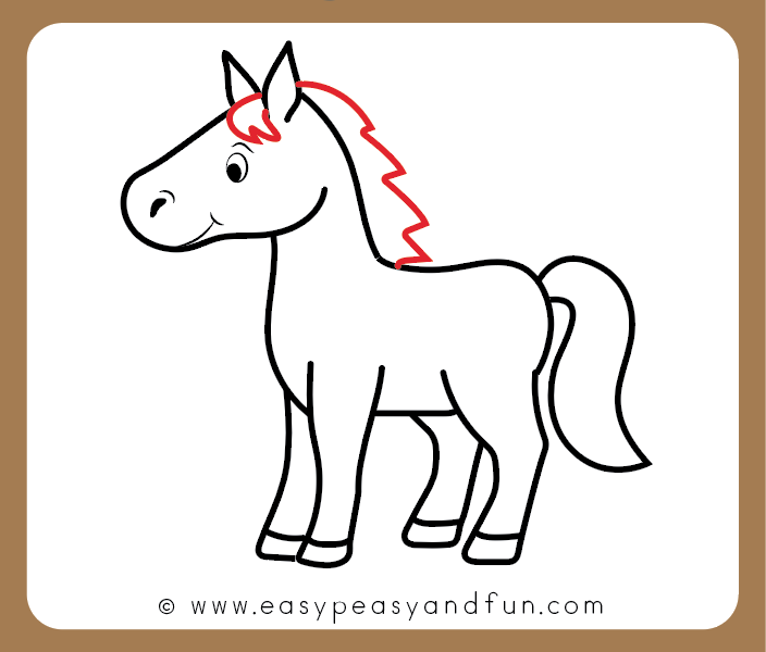 how to draw a horse step by step tutorial for kids cartooning