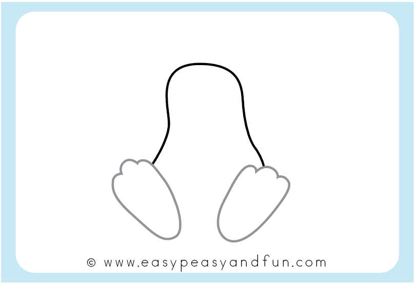 Draw the bunny feet