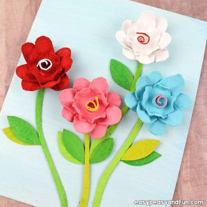 How to make flowers out of egg carton