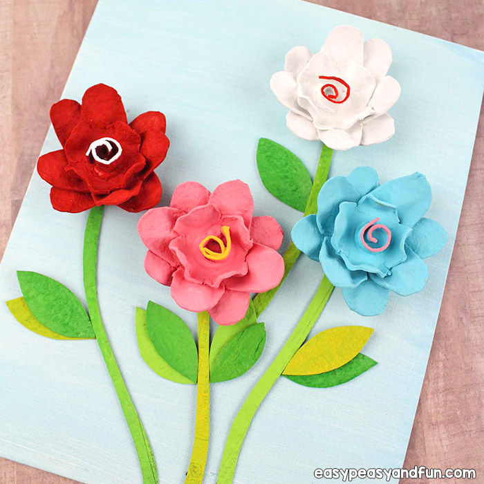 Egg carton flowers recycled egg carton crafts easy peasy and fun how to make flowers out of egg carton mightylinksfo
