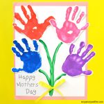 Mothers Day Handprint Art-Flowers-Craft