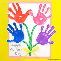Mothers Day Handprint Art Flowers