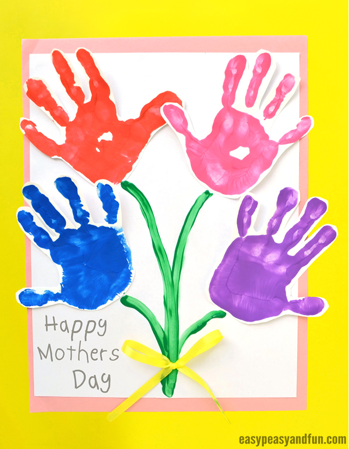 Mothers Day Handprint Art Flowers