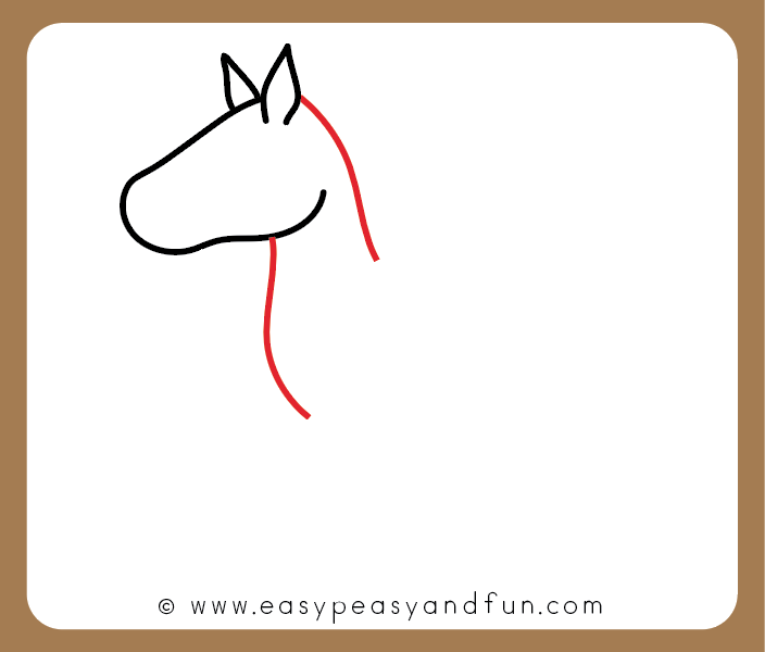 Easy Drawings Of Horses How To Draw A Horse Step By Step How To