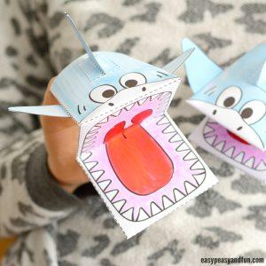 Printable Shark Puppet