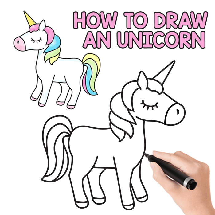 how to draw an unicorn easy and cute step by step. Black Bedroom Furniture Sets. Home Design Ideas