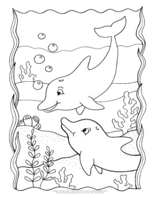 photo relating to Dolphin Printable Coloring Pages called Dolphin Coloring Web pages - Straightforward Peasy and Entertaining