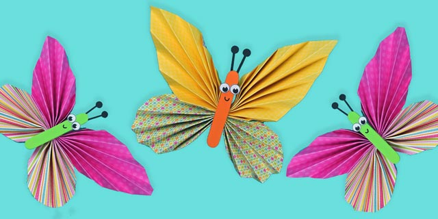 Colorful Paper Butterfly Craft Easy Peasy And Fun