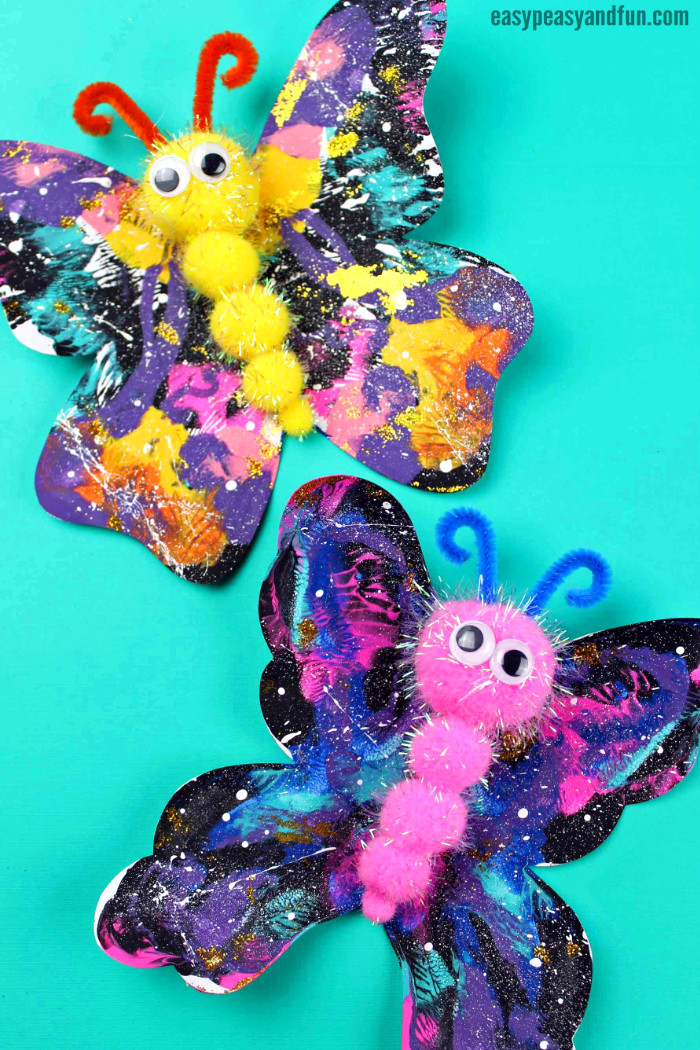 Butterfly Pom Pom Craft for Kids