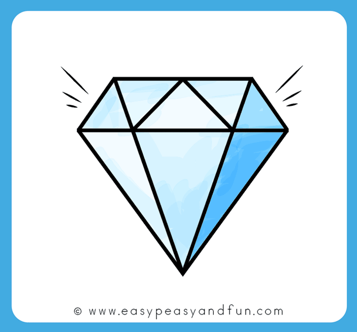 How to Draw a Diamond - Step by Step Diamond Drawing