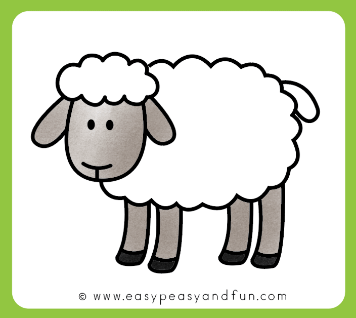 Color your sheep drawing