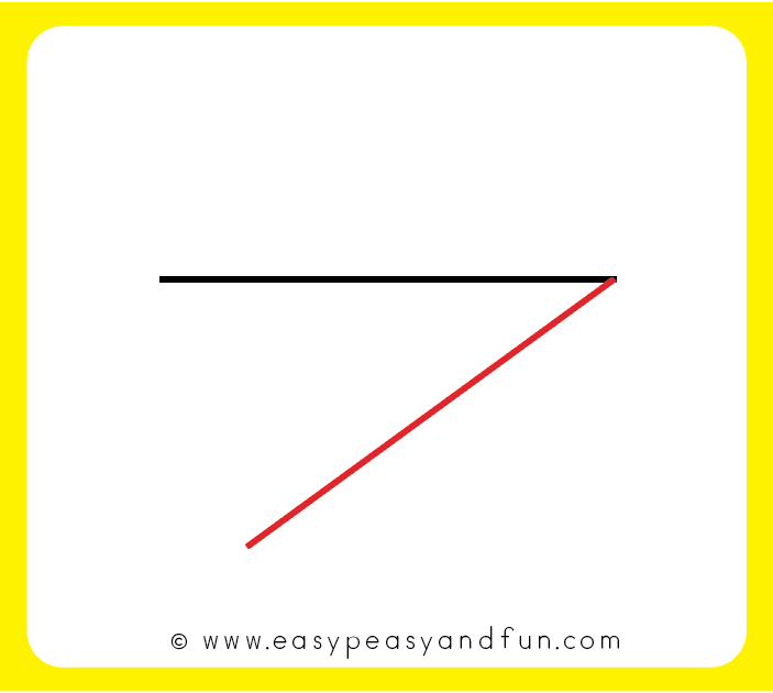 Continue with a line at the angle