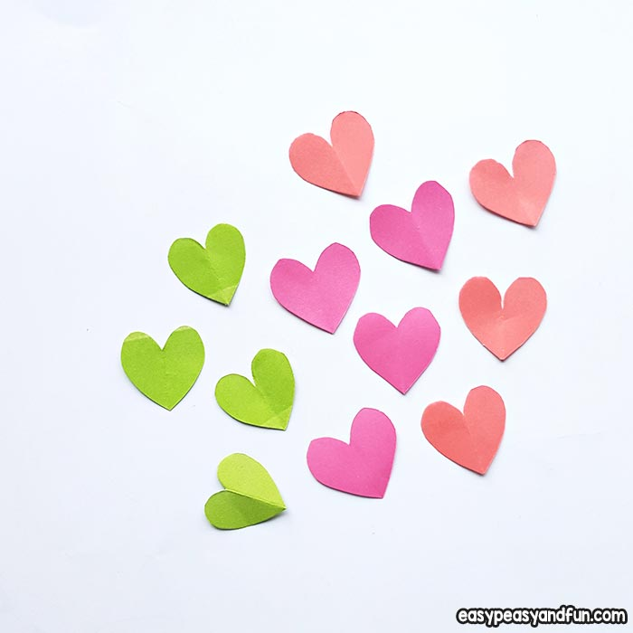 Cut small hearts