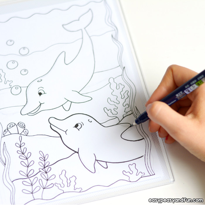 Dolphin Coloring Pages Easy Peasy And Funrheasypeasyandfun: Coloring Pages Dolphins At Baymontmadison.com
