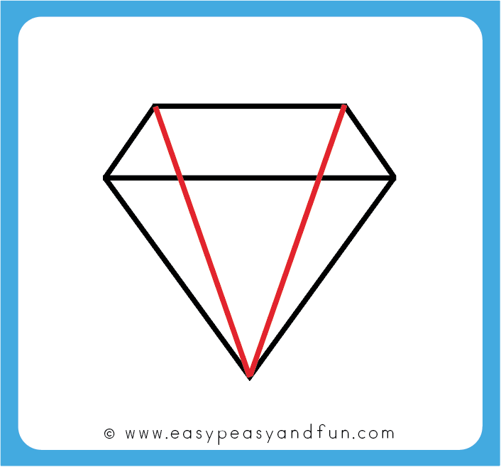 a47601630ab2e How to Draw a Diamond - Step by Step Diamond Drawing Tutorial (with ...
