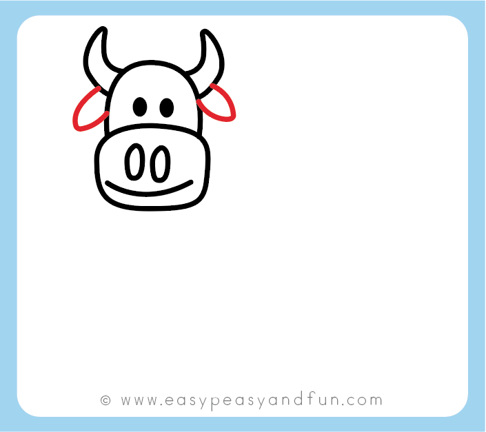 How To Draw A Cow Step By Step Cow Drawing Instructions Kids And Beginners Easy Peasy And Fun