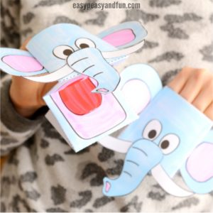 Elephant Puppet Printable Template