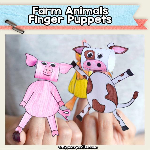 Farm Animals Finger Puppets