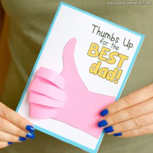 Father's Day Thumbs Up Card Idea