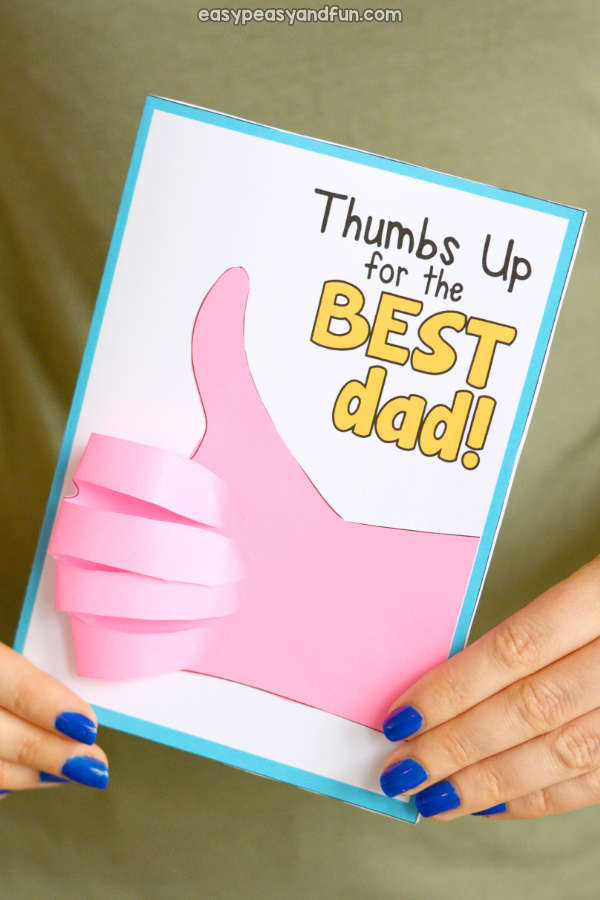 Fathers day thumbs up card easy peasy and fun fathers day thumbs up card idea for kids m4hsunfo