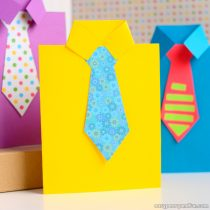How to Make a Father's Day Shirt Card (Template Included)
