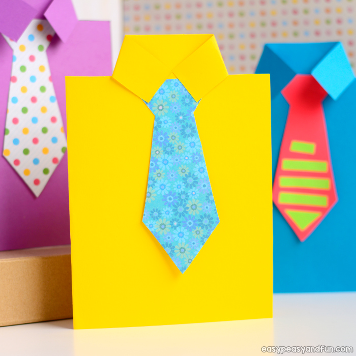 Father's Day Shirt Card idea For Kids