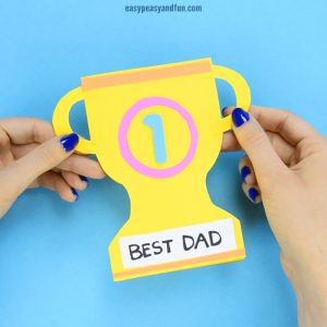 Father's Day Trophy Card – With Printable Trophy Template