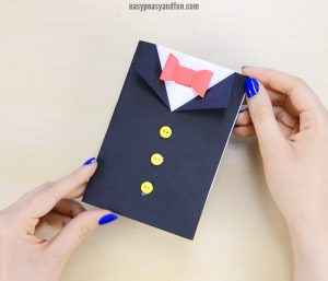 Father's Day Tuxedo Card Craft for Kids