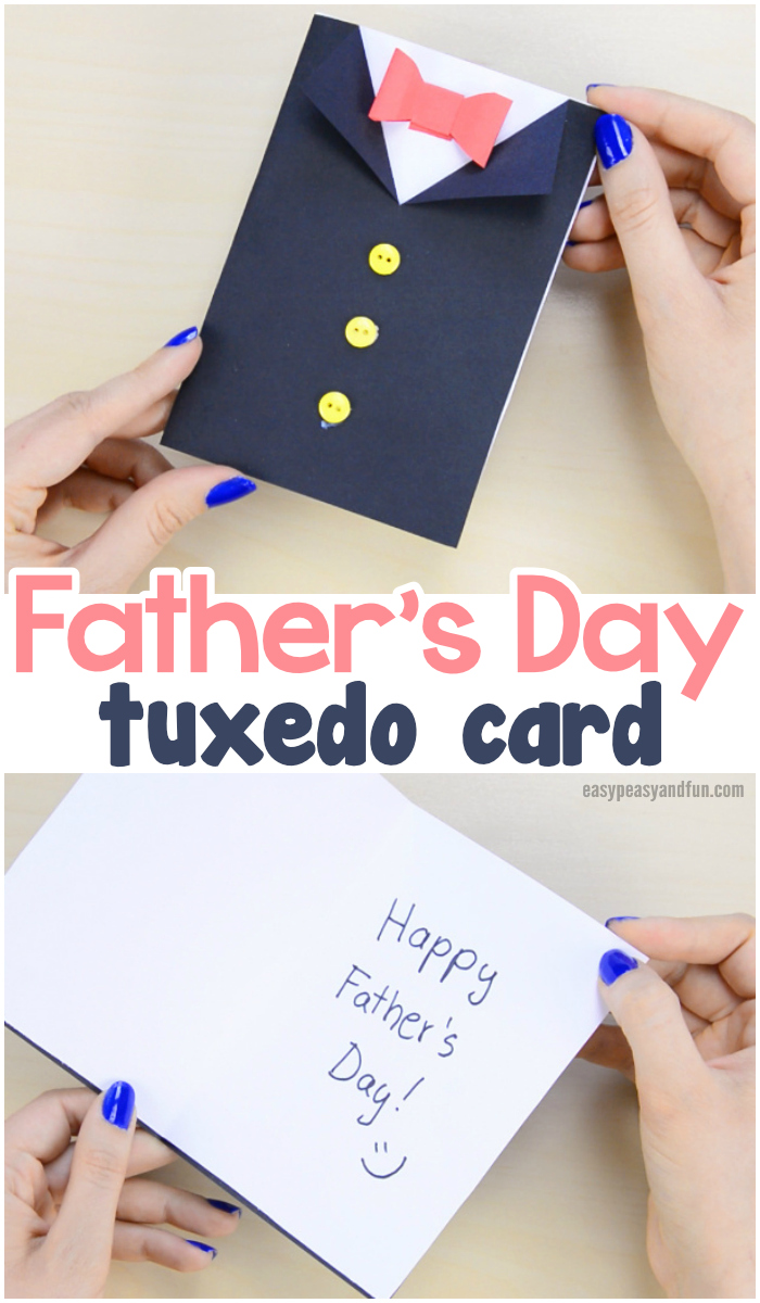 Father's Day Tuxedo Card Paper Craft for Kids to Make