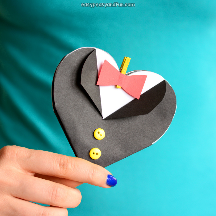 Father's Day Tuxedo Heart Card Idea