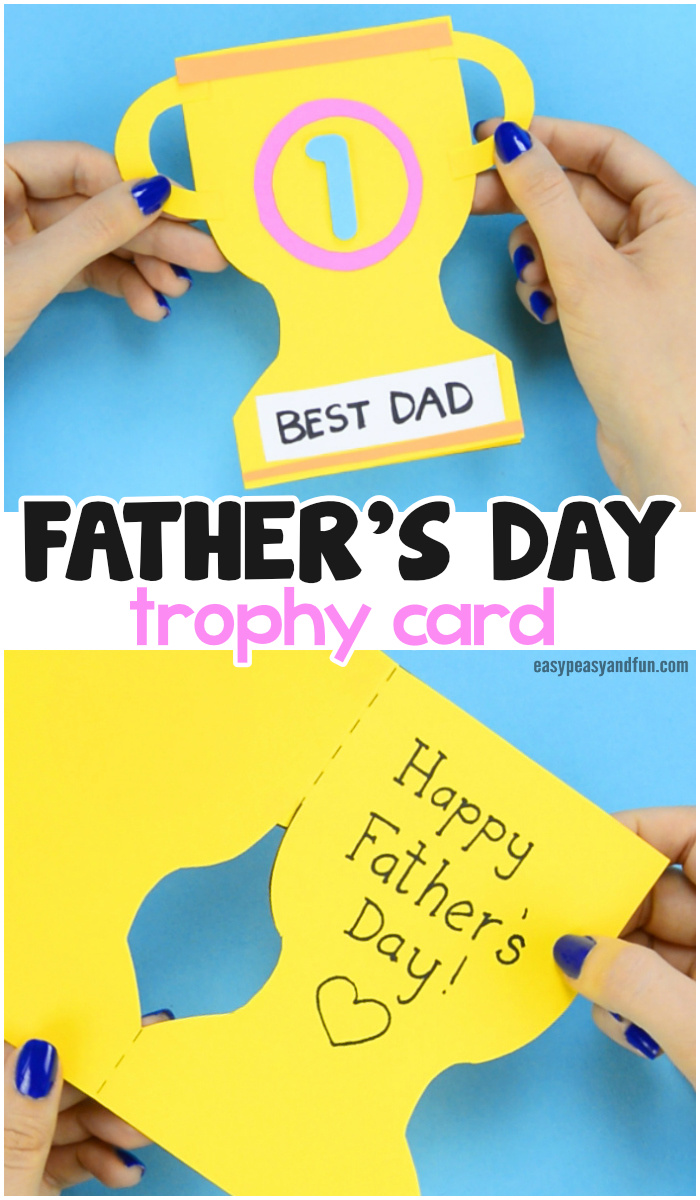 Super Simple Paper Trophy Card Kids Can Make