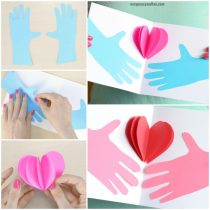 Hands Holding a Heart Mothers day Card