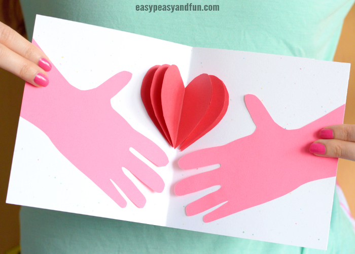 Hands Holding a Heart Mother's day Card Idea