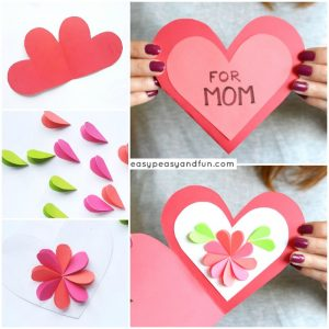 Heart Flowers Mothers Day Card