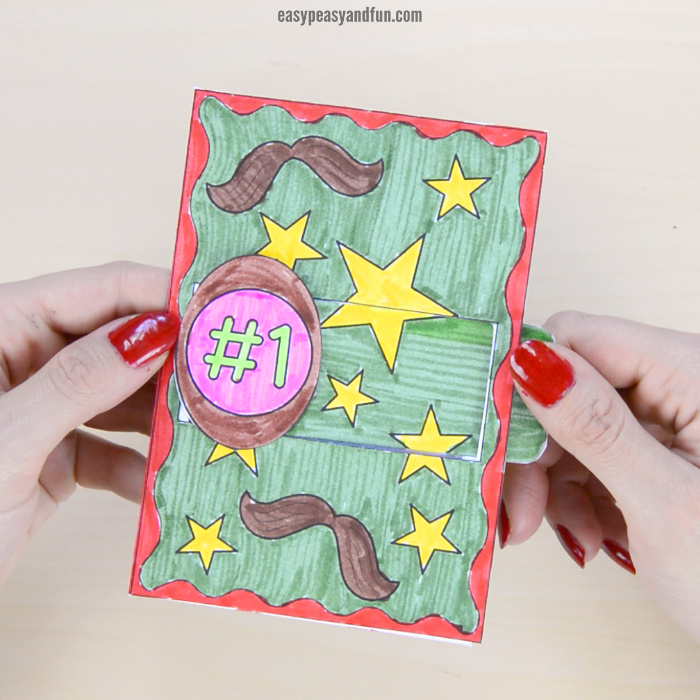 Hidden Message Father's Day Card Craft for Kids