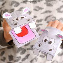 Hippopotamus Puppet Printable Template