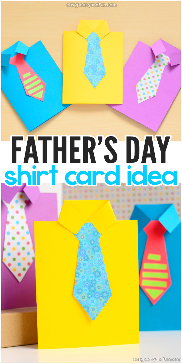 Learn how to make a Father's Day Shirt Card. This one will is certainly the best Father's day card kids can make. It also makes a perfect classroom Father's day craft for kids.