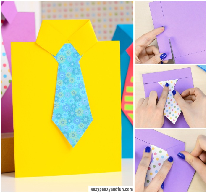 How to Make Father's Day Shirt Card