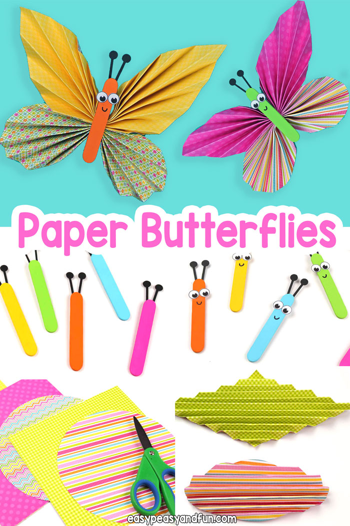 Learn How to Make Easy Paper Butterflies with Scrapbook Paper