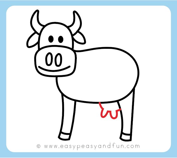 Cara menggambar kaki sapi