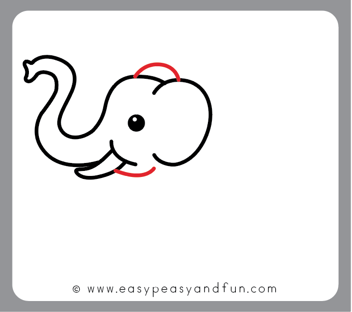 How To Draw An Elephant Step By Step Elephant Drawing