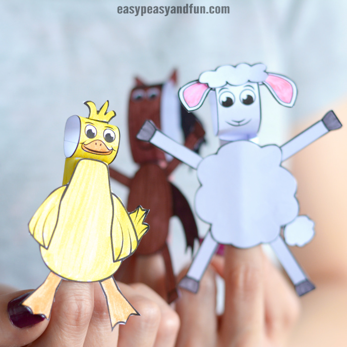 Printable Farm Animals Finger Puppets 1